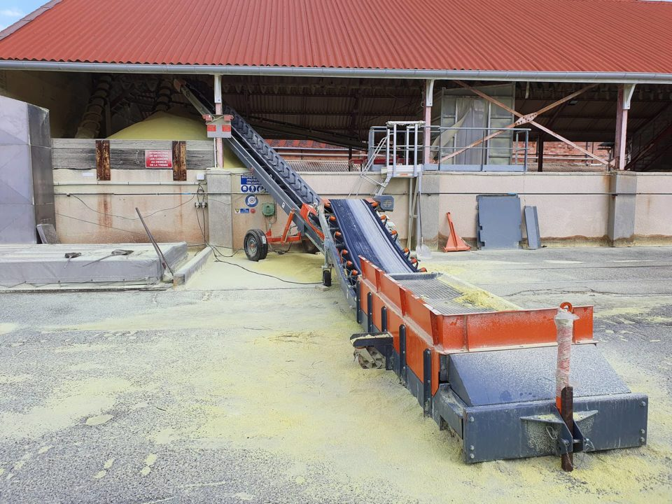 Handling of sulphur tablets with SAUTEC equipment