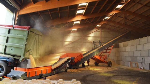 Grains belt conveyor