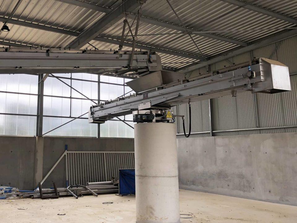sludge-rotary conveyor-storage sludge-sautec
