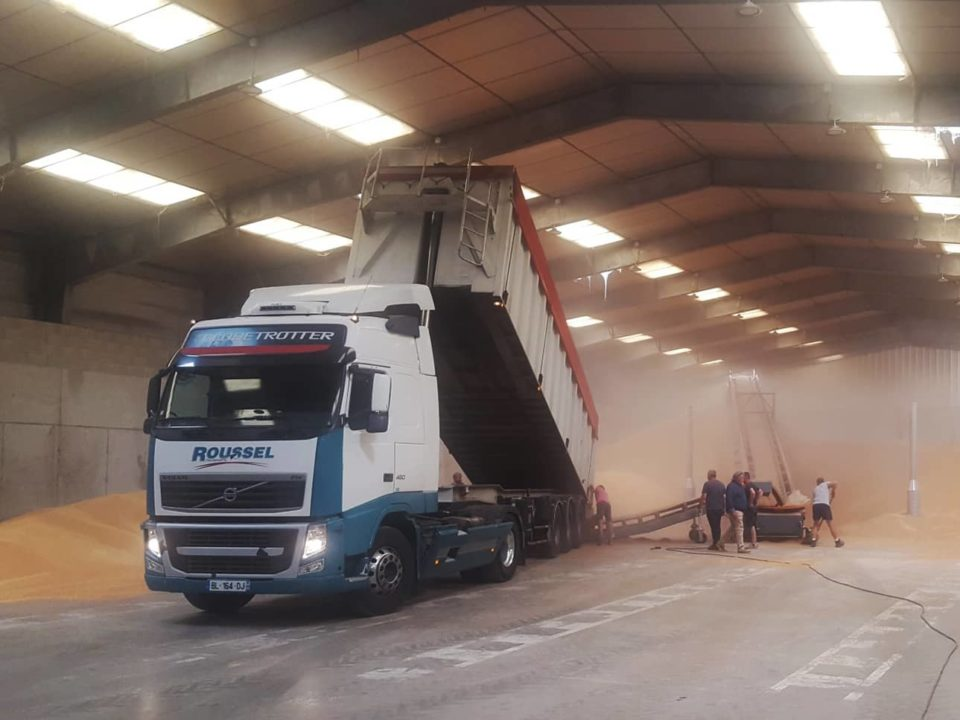 unloading-grain-truck-bulk-storage-grain