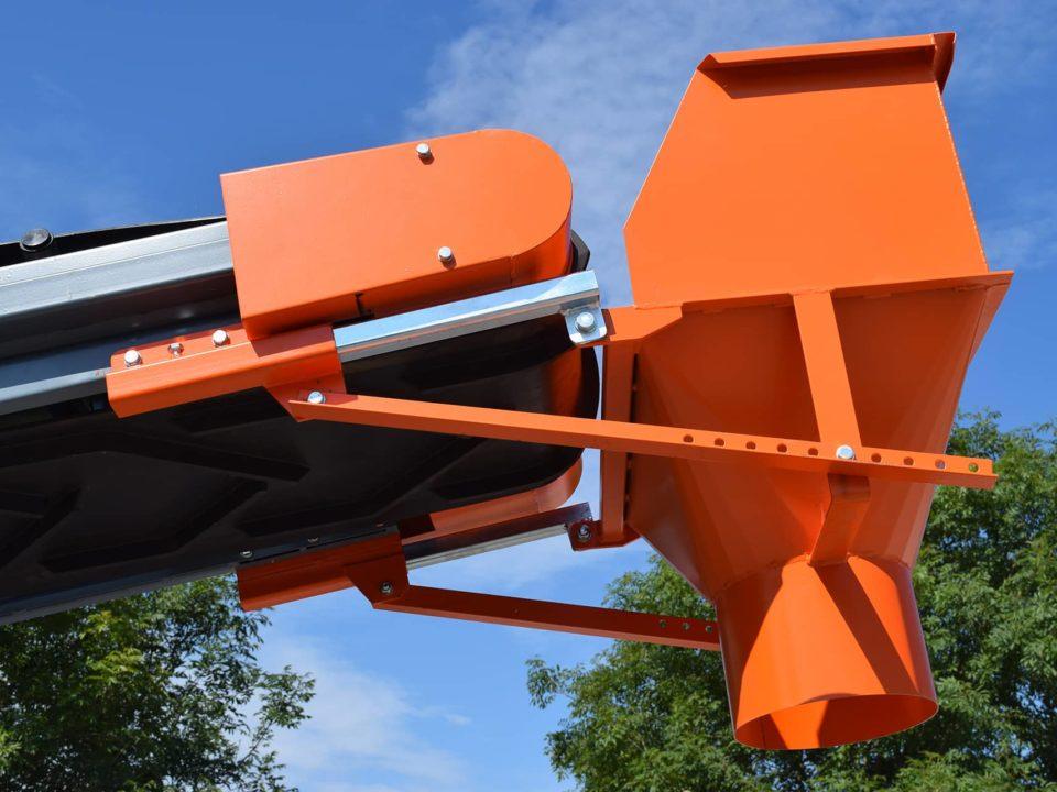 Fixed chute installed on a sautec belt conveyor