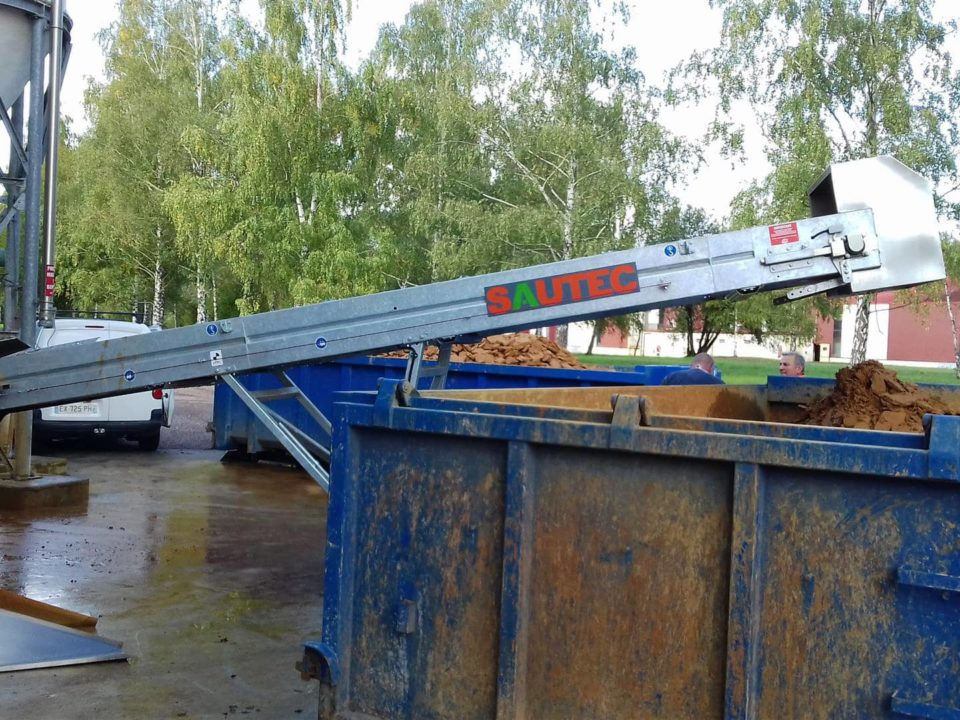 stainless steel sautec belt conveyor for sludge storage