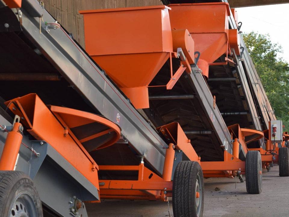 Belt conveyors designed by SAUTEC